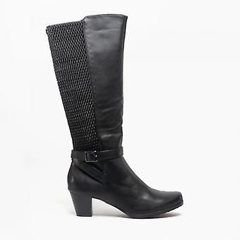 Cipriata Sara Ladies Heeled Calf Boots Black