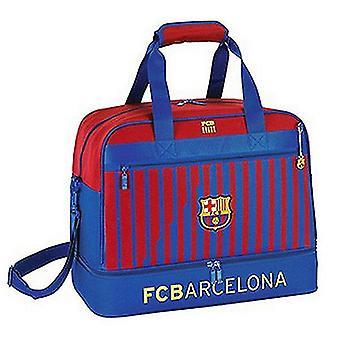 Sports bag with shoe holder safta fc barcelona blue maroon