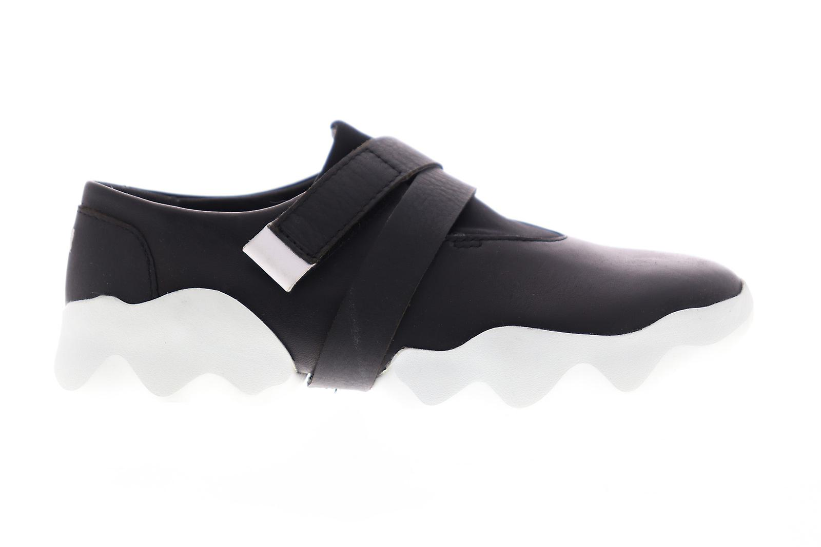 Camper Dub Femmes Black Leather Slip On Flats Mocakers Chaussures
