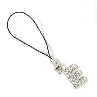 The Olivia Collection Silvertone Acrylic Set Initial E Mobile Phone Charm