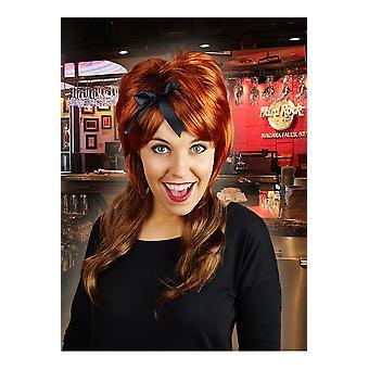 Parrucche marrone parrucca con accenti rossi