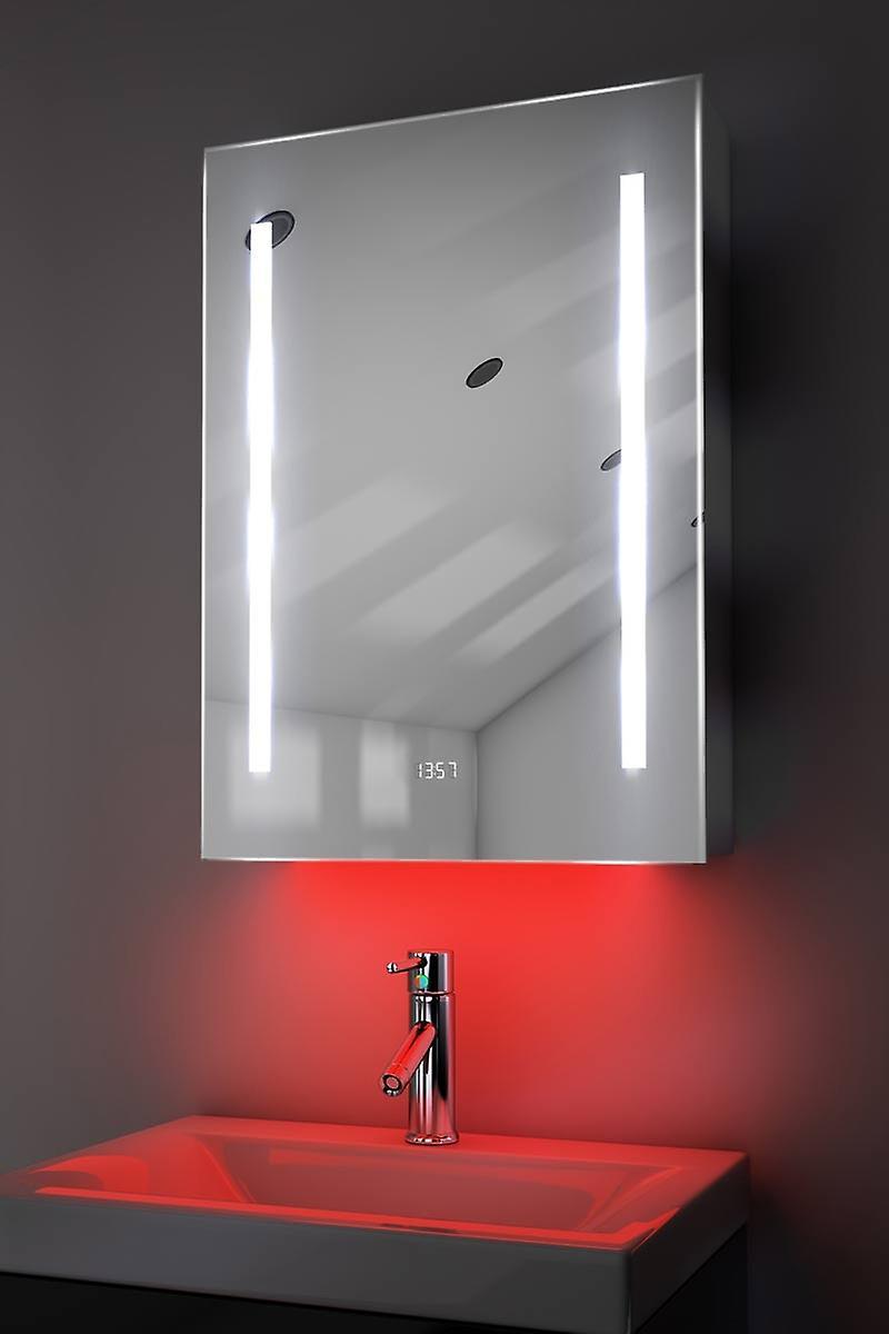 Clock Cabinet With RGB , Demister, Sensor & Shaver k390rgb