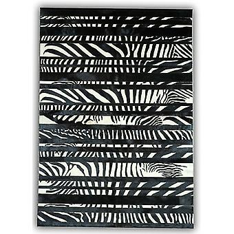 Rugs -Patchwork Leather Cowhide - ST-T-74 Zebra Stripes