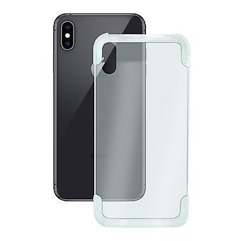 Mobilt omslag Iphone X KSIX Flex Armor/Transparent