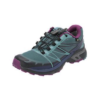 Salomon SHOES WINGS PRO 2 GTX® W Damen Sportschuhe Blau Sneaker Turn Schuhe
