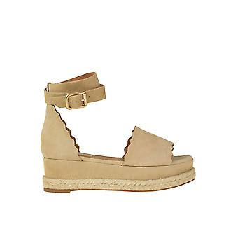 Chloé Ezgl079037 Femmes-apos;s Beige Suede Slippers