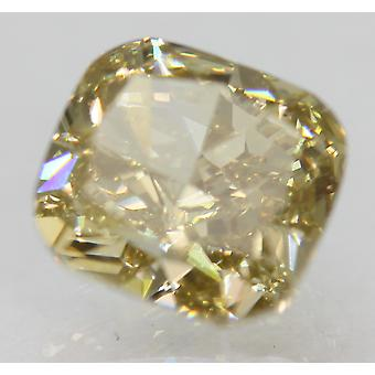 Cert 1.59 Carat Fancy Yellow VVS1 Cushion Natural Loose Diamond 6.85x6.41mm 2VG