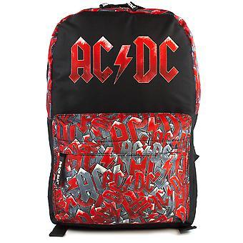 Rock Sax ACDC Logo Rucksack  All Over Print Black Backpack