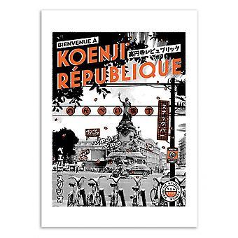 Art-Poster - Tokyo-Paris Republiken - Paiheme studio