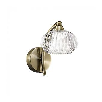 Bronze Wall Lamp Ripple 1 Bulb
