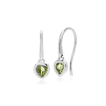 Essential Heart muotoinen Peridot Pudota korvakorut 925 Sterling Silver 270E026204925