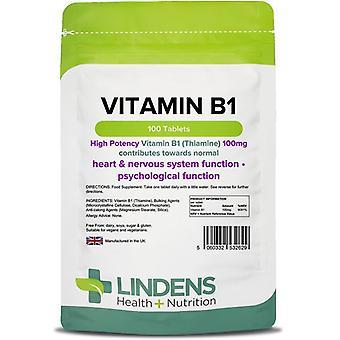 Lindens B1-vitamiini 100mg Tabletit 100 (2629)