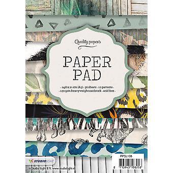 Studio Light Paper Pad A5 36 arkkia 12 mallit nr 105 PPSL105