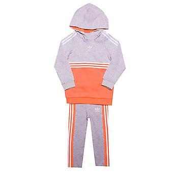 Girl & apos; s adidas Originals Infant Autentisk träningsoverall i grå