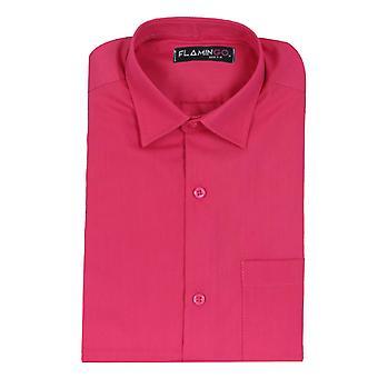 Boys Cotton Formal Fuchsia Shirt