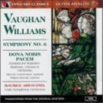 Abravanel, Maurice / Utah Symphony Orchestra - Vaughan Williams Symphony No. 6 Dona Nobis Pacem [CD] USA import