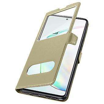 Galaxy Note 10 Lite Double Window Protection Back cover - Golden