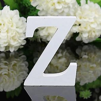 White Wooden English Alphabet Letters - Free Standing Heart Wedding Decor