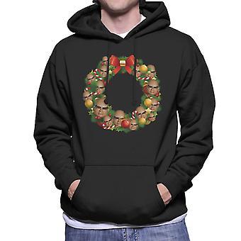 Thunderbirds Christmas Wreath Multiface The Hood Men's Felpa con cappuccio