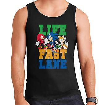 Sonic The Hedgehog Life In The Fast Lane Men's Vest