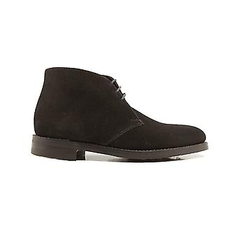 Loake Pimlico Dark Brown Suede Leather Mens Derby Boots