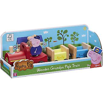 Peppa Pig Peppa's Wood Play Train and Figure Playset