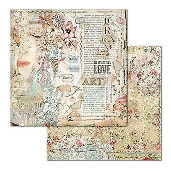 Stamperia Love Art Face 12x12 Inch Paper Sheets (10pcs) (SBB667)