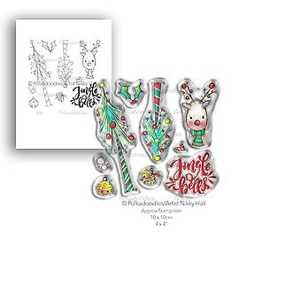 Polkadoodles Jingle Bells Clear Stamps