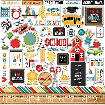صدى بارك العودة إلى المدرسة 12x12 بوصة ملصقا العنصر