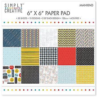 Simply Creative FSC Paper Pad 6x6 Inch Mankind