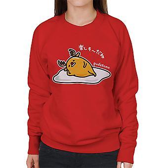 Gudetama Lazy Reindeer Women's Sweatshirt