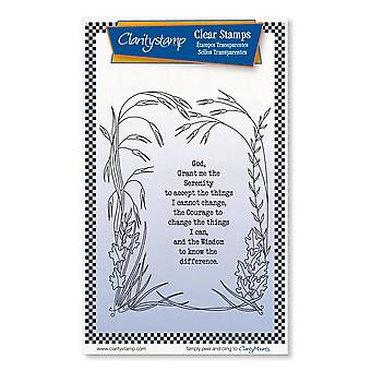 Claritystamp Serenity Prayer A6 Clear Stamps