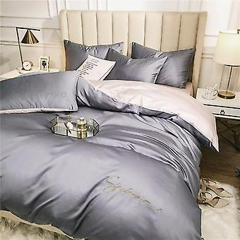 Egyptiske Solid Color Broderi Long-korte Bomuld Bedding Set