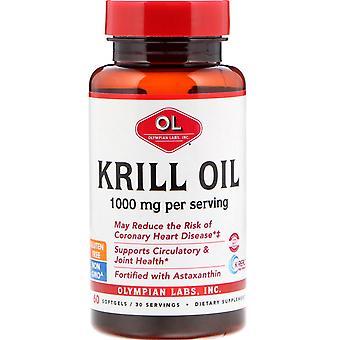 Olympian Labs, Krill Oil, 1000 mg, 60 Softgels