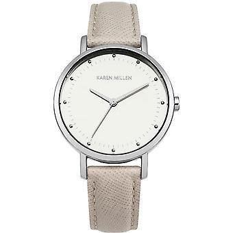 Karen Millen KM139C - watch leather grey woman