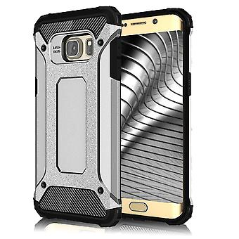 Shell for Samsung Galaxy S6 Armor Silver Protection Case