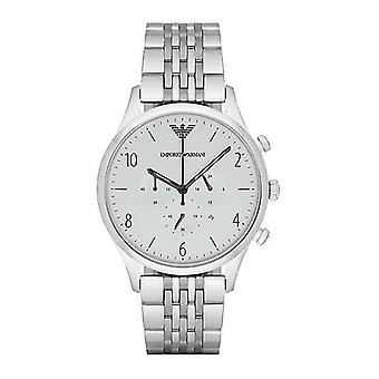 Emporio Armani AR1879 Classic Silver Dial Stainless Steel Chronograph Men's Watch