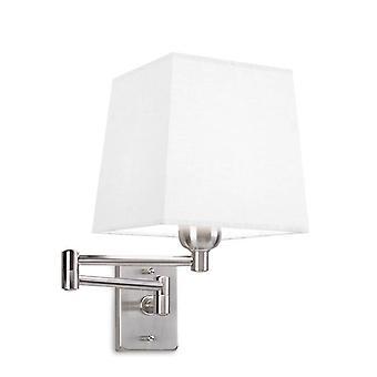 Leds-C4 Dover - 1 licht binnen verstelbare wandlamp Satin Nikkel, E27