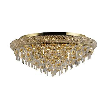 inspirert diyas - alexandra - flush tak 9 lys fransk gull, krystall