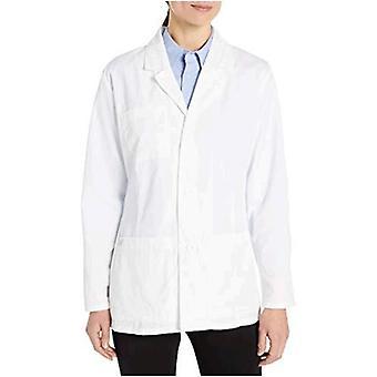Dickies Kvinnor's 28 Inch Lab Coat, Vit, Medium