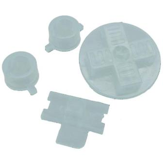 Zedlabz replacement button set a b d-pad power switch for nintendo game boy original dmg-01 - crystal clear