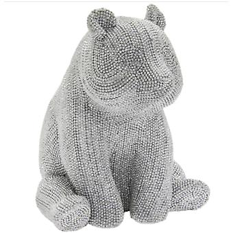 Silver Art Panda Figurine By Lesser & Pavey