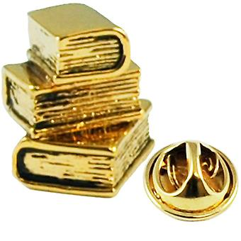 Ties Planet Library Libri Gold Plated Lapel Badge