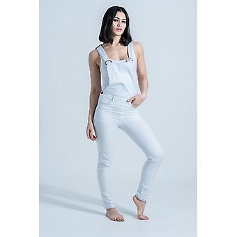 Slim fit dungarees - ice blue bib overalls