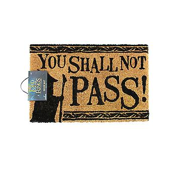 Lord Of The Rings You Shall Not Pass Door Mat | Official Merchandise