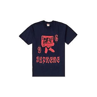 Supreme Queen Tee Navy - Kleidung
