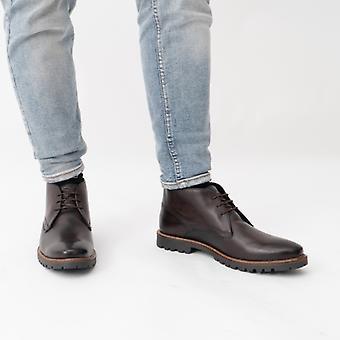Base London Brady Mens Leather Chukka Boots Brown