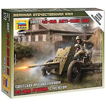 Zvezda Z6112 Sovjetiska Gun 45Mm Modell Kit