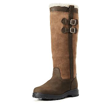 Ariat Eskdale Womens Faux Fur Full Calf Leather H20 Boot - Java Brown