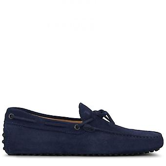 Moccassus Gommino Man Tod&s In Blue Suede
